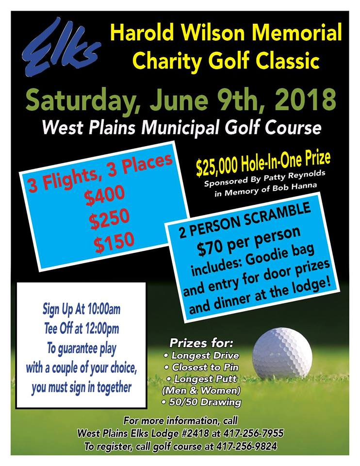 Harold Wilson Memorial Charity Golf Classic @ North Terra Golf Course