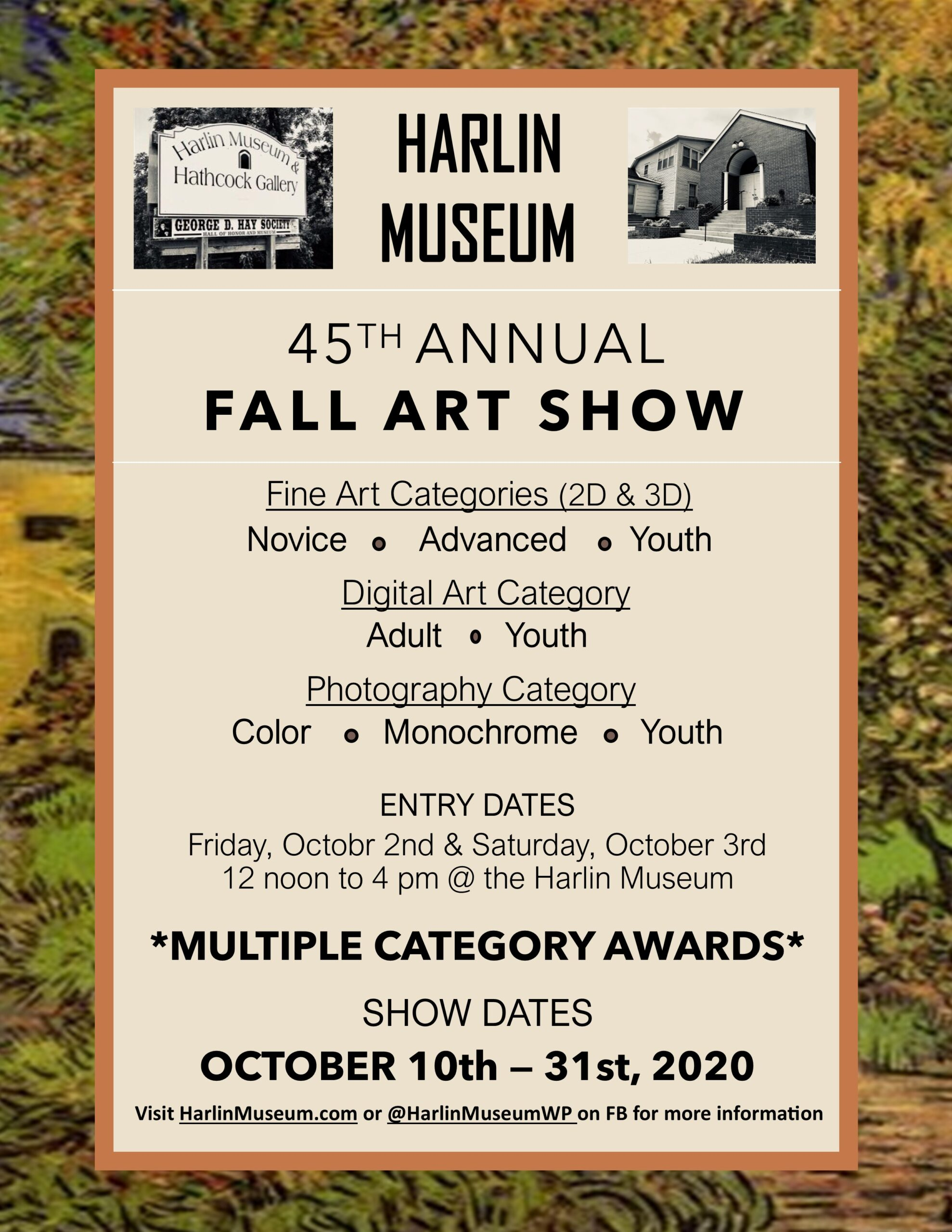 Harlin Museum 45th Annual Fall Art Show @ Harlin Museum