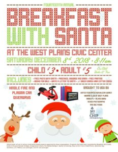 Breakfast with Santa @ West Plains Civic Center