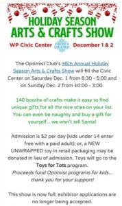 WP Optimist Club Annual Arts and Crafts Show @ West Plains Civic Center