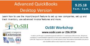 Advanced Quickbooks Class @ OzSBI