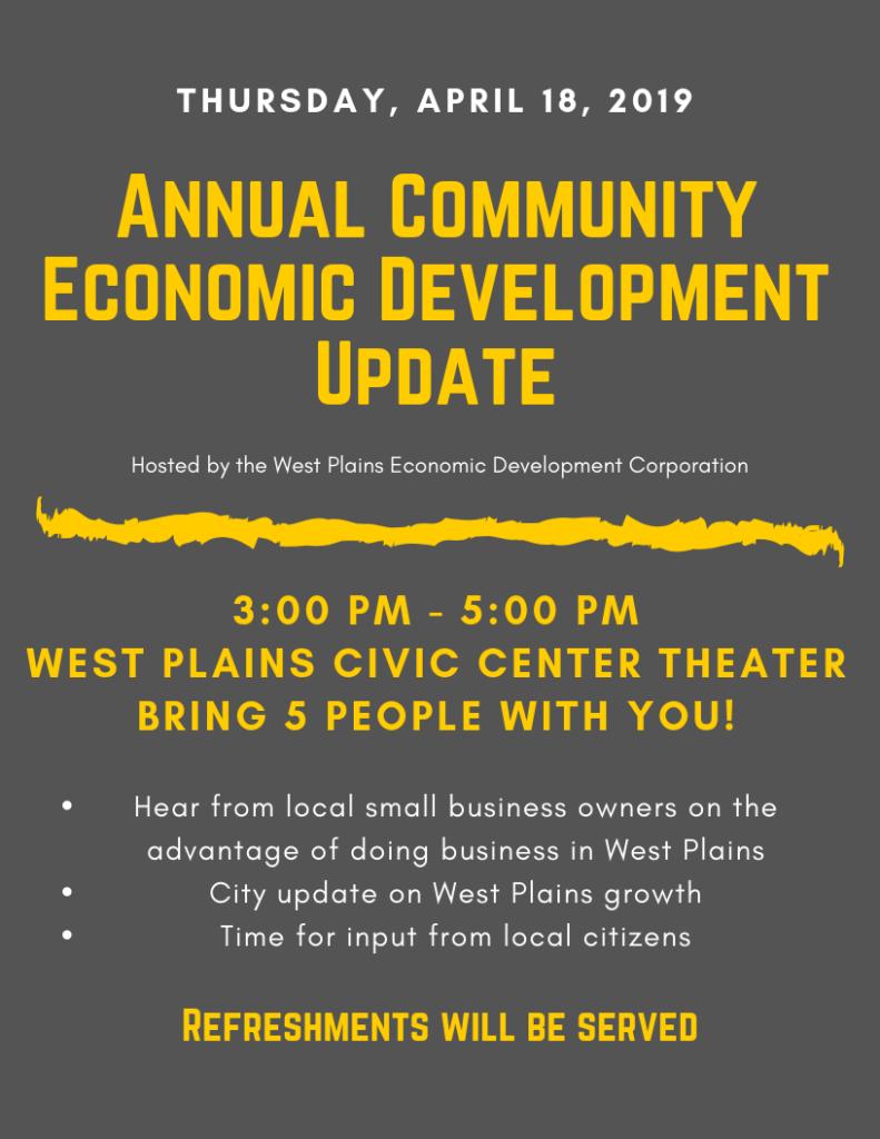 Annual Community Economic Development Update @ West Plains Civic Center Theater