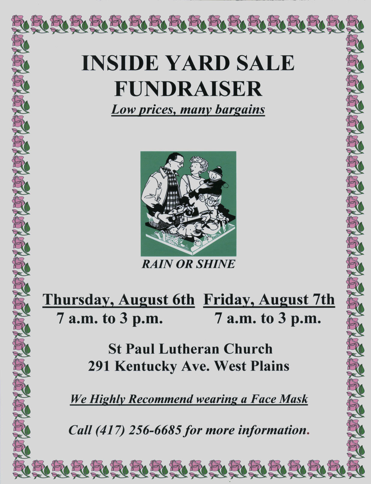 Inside Yard Sale Fundraiser @ St Paul Lutheran Church