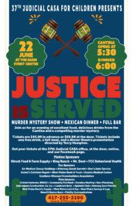 The 37th Judicial CASA Murder Mystery Dinner