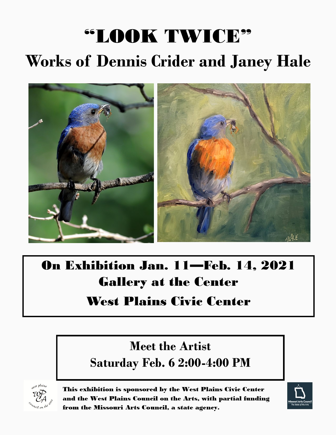 """Look Twice"" Works of Dennis Crider and Janey Hale @ West Plains Civic Center"