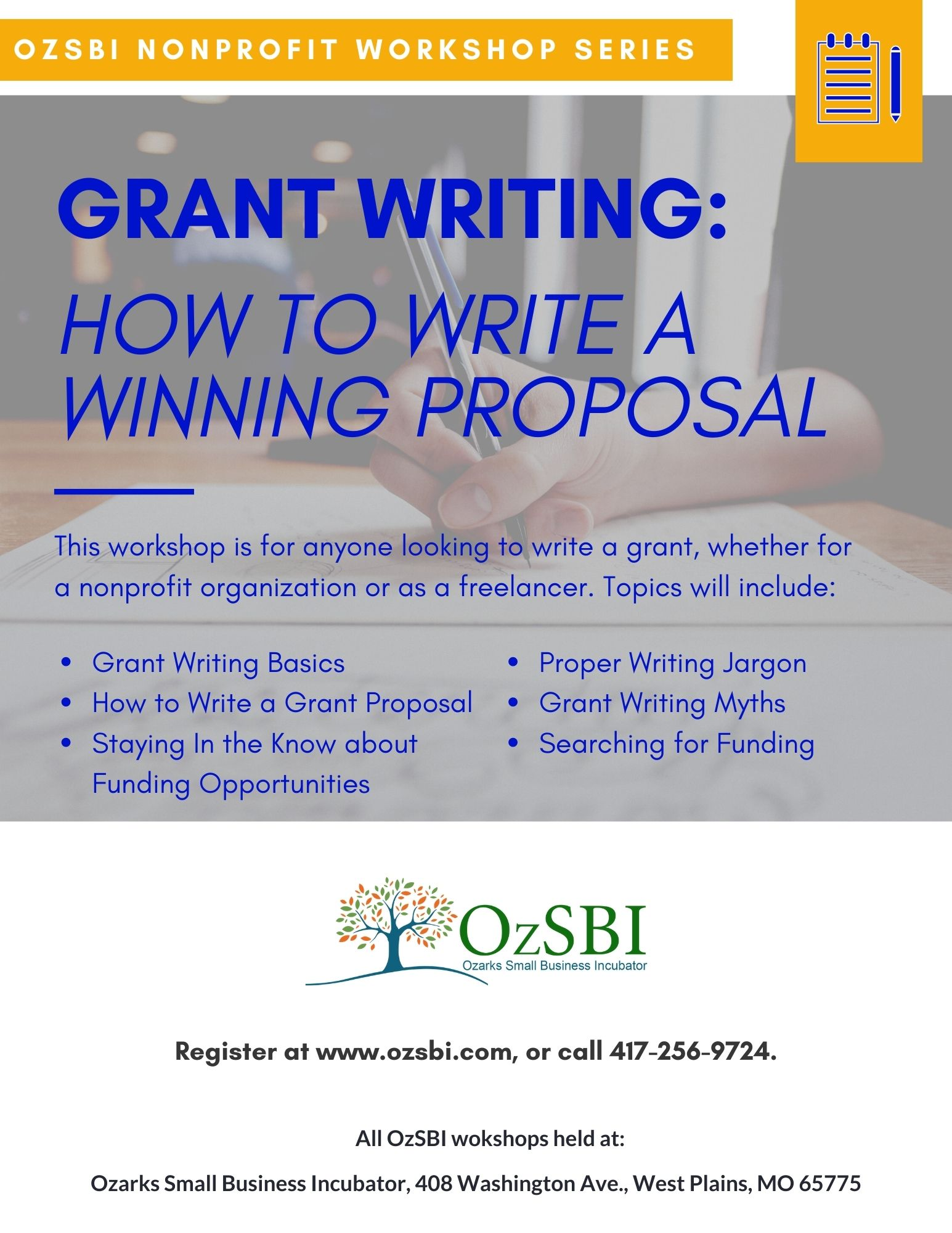 Grant Writing: How to Write a Winning Proposal @ OzSBI
