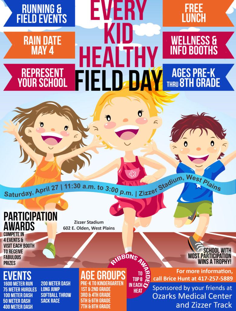 Every Kid Healthy Field Day @ Zizzer Stadium