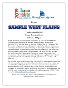 Sample West Plains @ Student Recreation Center