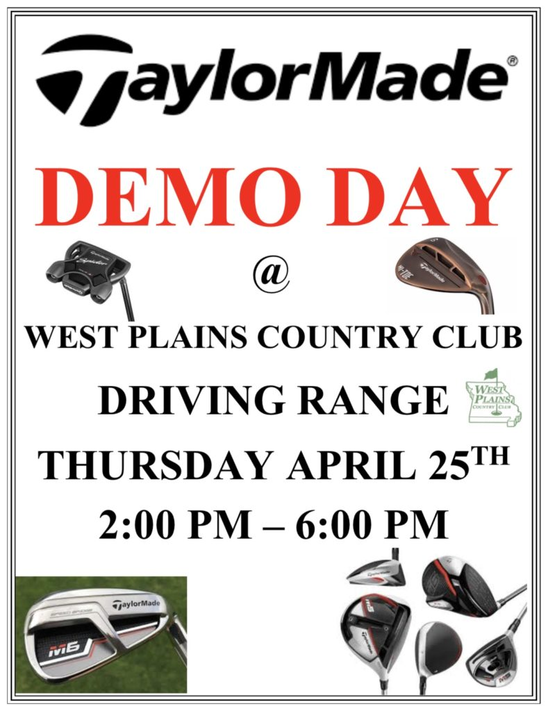 TaylorMade Golf Demo Day @ West Plains Country Club