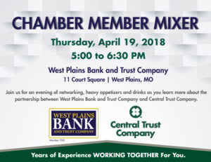 Chamber Member Mixer @ West Plains Bank and Trust Company-Main Bank Branch Lobby