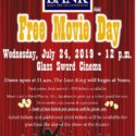 West Plains Bank Hosts Free Movie Day at The Glass Sword Cinema @ The Glass Sword Cinema