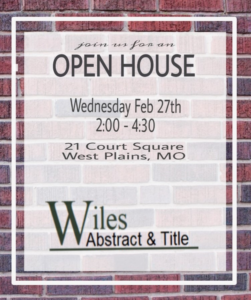 Wiles Abstract & Title Company, Inc. Ribbon Cutting Ceremony & Open House @ Wiles Abstract & Title Company, Inc.